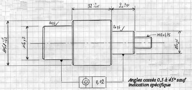 usiner une pi ce entre pointes siderm ca. Black Bedroom Furniture Sets. Home Design Ideas